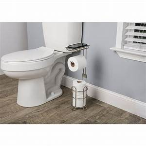 Giagni, Brushed, Nickel, Freestanding, Single, Post, Toilet, Paper, Holder, In, The, Toilet, Paper, Holders