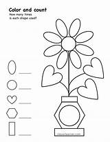 Shape Cleverlearner Worksheet Square Shapes Activity Counting Preschool Coloring Count Sheets Activities Children Games Craft Numbers Drawing sketch template