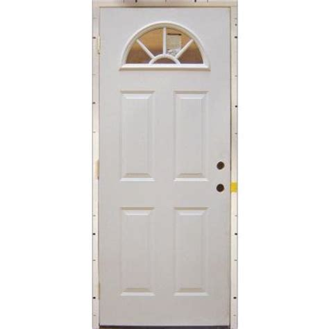 steel entry door home depot milliken millwork 36 in x 80 in fan lite replacement