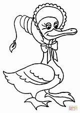 Goose Coloring Mother Pages Clipart Printable Rhymes Charlotte Duck Nursery Cartoon Wilbur Clip Fern Drawing Templeton Supercoloring Crafts Library Cliparts sketch template