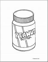 Peanut Butter Coloring Jar Abcteach Peanutbutter Cut sketch template