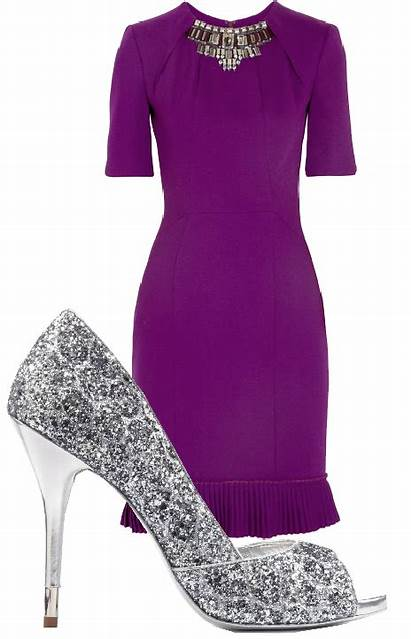 Purple Silver Shoes Dresses Accessories Jewelry