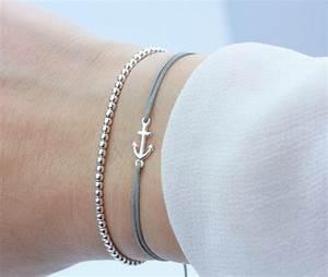 Passende Farbe Zu Silber : schoschon damen symbol armband set anker silber grau 925 silber ~ Bigdaddyawards.com Haus und Dekorationen