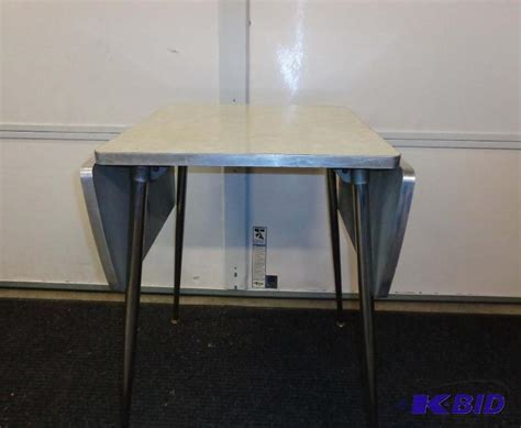 Retro! Virtue Bros Chrome Dinette Set Drop Leaf Table with
