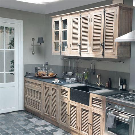 meubles de cuisine indépendant et ilot maison du monde