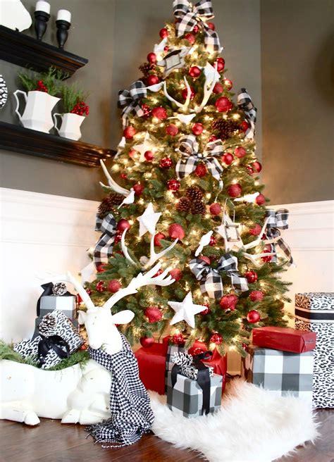 buffalo check christmas style series christmas tree