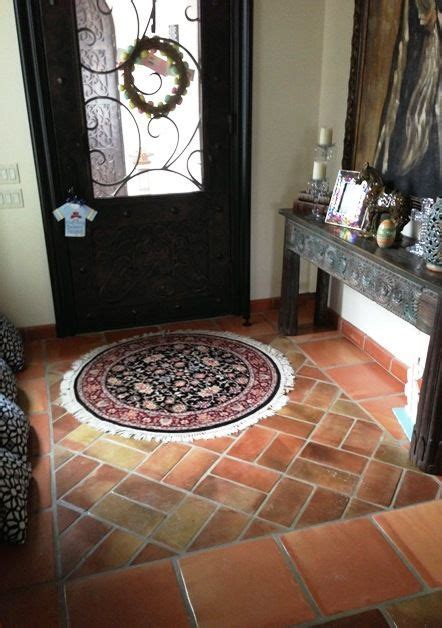 A beautiful mixture of traditional saltillo tile and