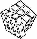 Rubiks Rubik Rubika Kostka Getcolorings sketch template