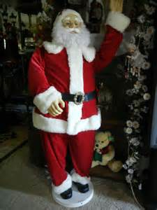 animated life size deluxe 5 foot santa claus sings dances christmas rare prop ebay