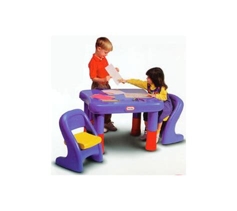 little tikes table set little tikes 7749 adjustable table chairs set qvc com