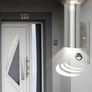 Up And Down Lampen Aussen : 3er set wand lampen up down strahler hof bewegungsmelder ~ Whattoseeinmadrid.com Haus und Dekorationen