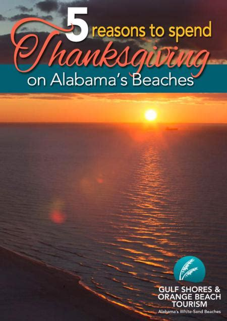 reasons  spend thanksgiving  alabamas beaches
