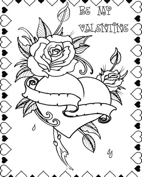 Coloring pages | Heart coloring pages, Valentines day
