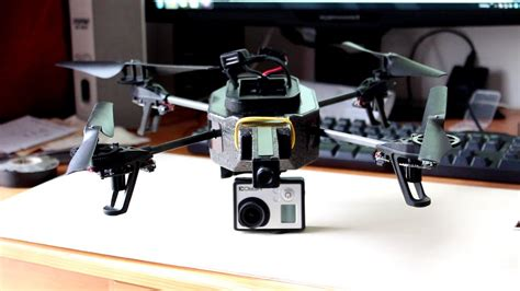 attach gopro  ardrone  tutorial youtube