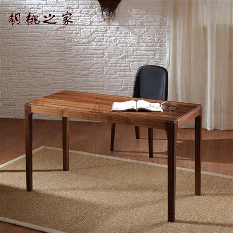 black wood computer desk pure black walnut wood desk computer desk table simple