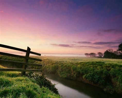 beautiful purple sunset river scenery hd wallpaper preview