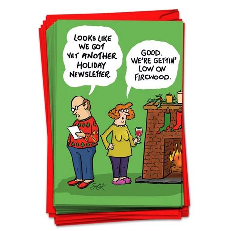 Related:funny christmas cards box funny christmas cards boxed. 12 Funny Cartoon Christmas Cards - Boxed Greeting Card Set ...