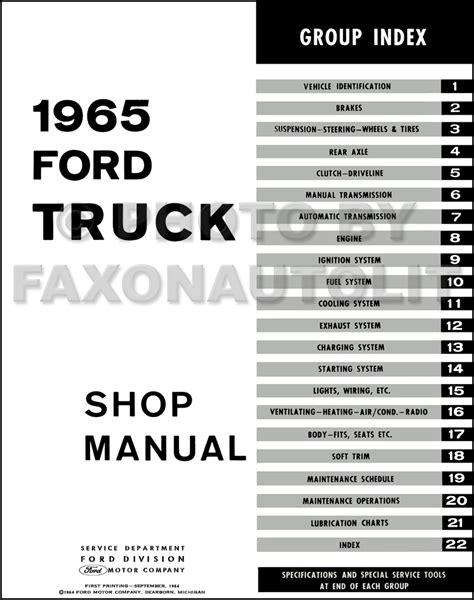 Ford Truck Repair Shop Manual Reprint Set