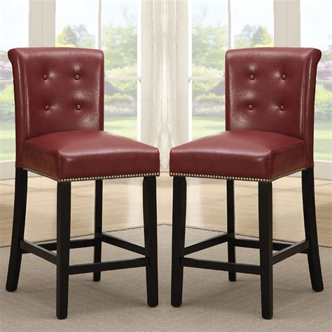2 pc dining high counter height chair bar stool 24 quot h