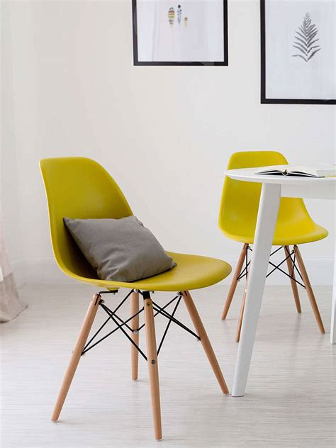 set of 4 eames dsw replica eiffel dining chair olive