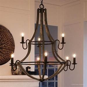 Shop, Luxury, Farmhouse, Chandelier, 34, 75, U0026quot, H, X, 32, 5, U0026quot, W, With, Rustic, Style, Wood, Grain, Metal, With