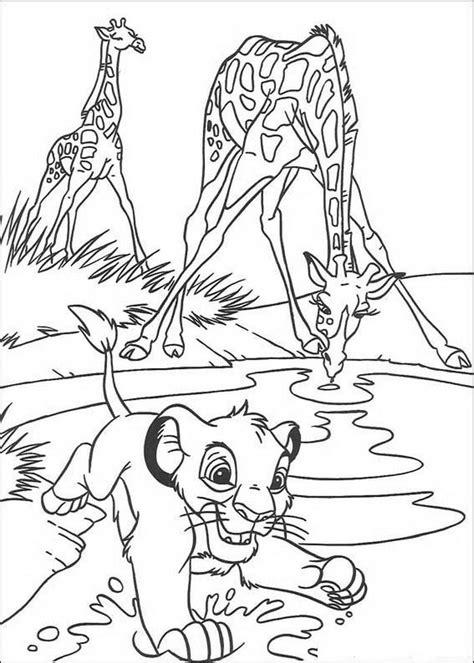 3d Kleurplaat App by Kleurplaat King Of De Leeuwenkoning Simba Drinkt