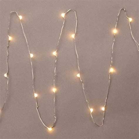battery operated christmas string lights gerson 36903 18 light 3 39 silver wire warm white battery