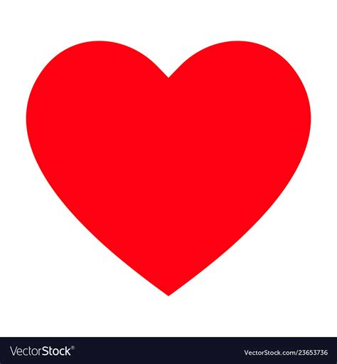 red heart icon love icon royalty  vector image