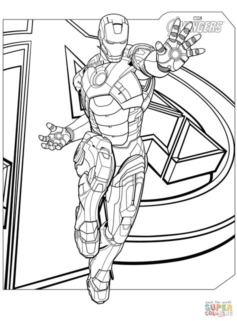 super coloring pages avengers avengers iron man coloring page free printable coloring