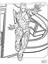 Coloring Avengers Iron Pages Printable Drawing Superhero Paper sketch template