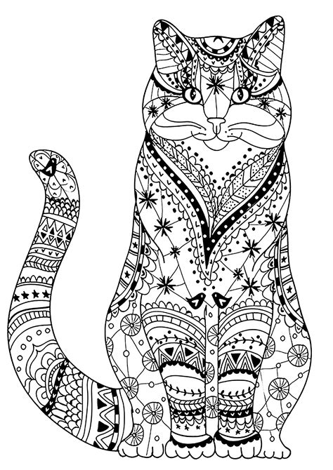 wise cat cats adult coloring pages