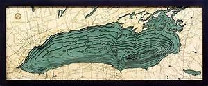 Great Straits Chart Custom Wood Charts Of Lake Ontario From Carved Lake Art