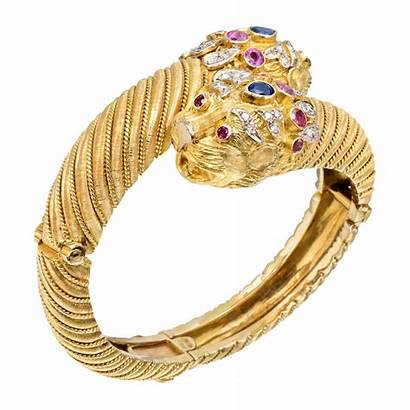 Lion Bracelet Head Gold Bangle 18k Lalaounis