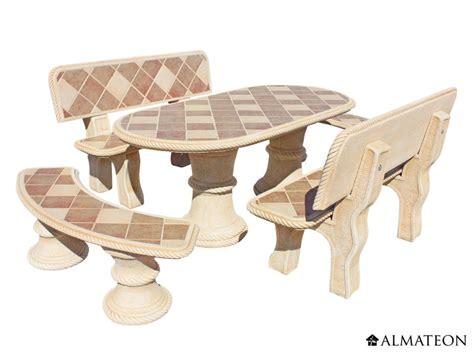 mobilier de jardin en reconstituee salon de jardin olmo en pour 10 224 12 personnes almateon