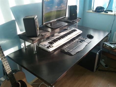 music studio desk ikea cheapest home studio desk ever ikea hackers standing