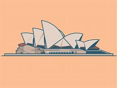 Illustration Vector Opera Sydney Roof Heart Dribbble