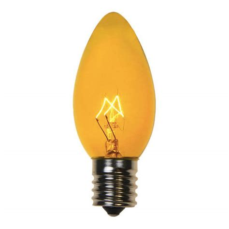 transparent yellow c9 incandescent christmas light bulbs