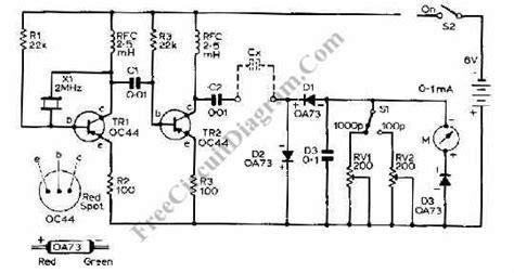 Capacitance Meter Circuit Using Transistors Electronic