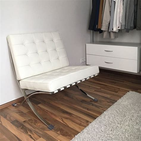 Barcelona Chair Cowhide by Barcelona Chair Cowhide Brown White Popfurniture
