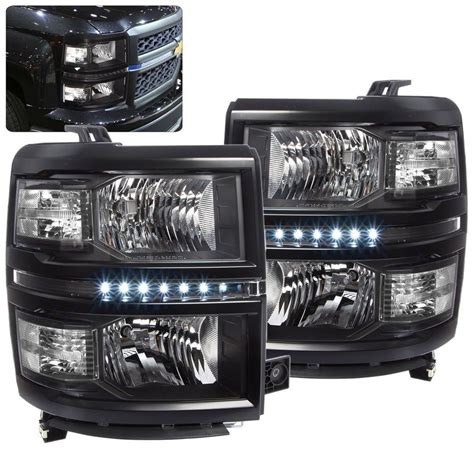 details  chevy silverado    headlight