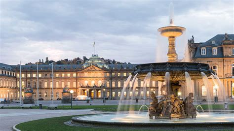 It is located on the neckar river in a fertile valley known locally as the stuttgart cauldron and lies an hour from the swabian jura and the black forest. Stuttgart Schlossplatz Tagungshotels in Stuttgart ...