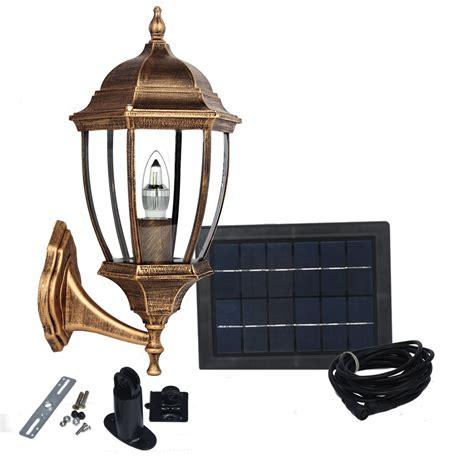 large elegant outdoor solar powered led garden wall light