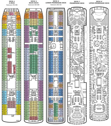 America Ms Westerdam Deck Plans by America Line Ms Statendam Review Deck Plan
