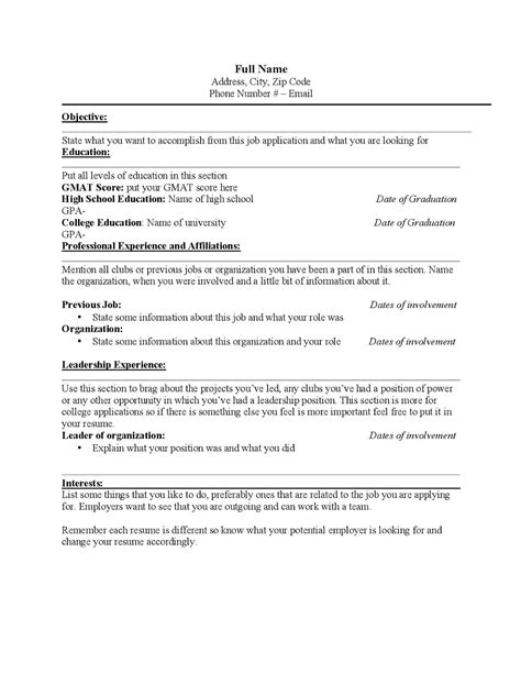 fine things to put in a resume for college contemporary