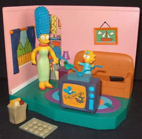 living room playset the simpsons wos series 1 playset simpsons living room