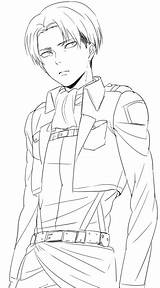 Levi Ackerman Anime Sketch Drawing Character Husband sketch template