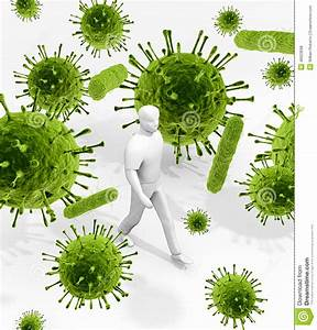 Surrounded By Germs Everywhere Stock Illustration