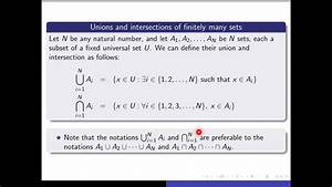 Section 2 3  Part 1 Unions And Intersections Of Indexed