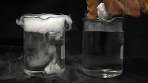 Liquid Nitrogen Cooled Dry Ice In Water