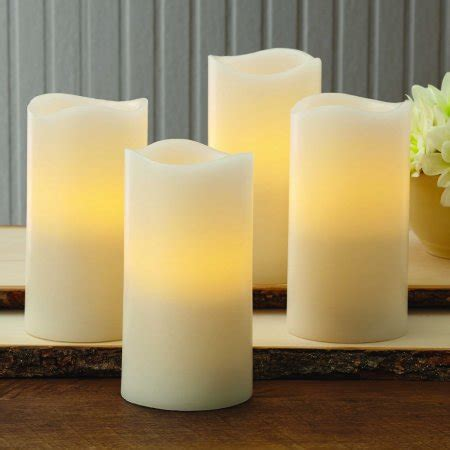 better homes and gardens candles better homes and gardens flameless led pillar candles 4